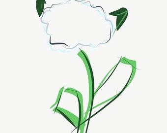 Simple Hydrangea- Print