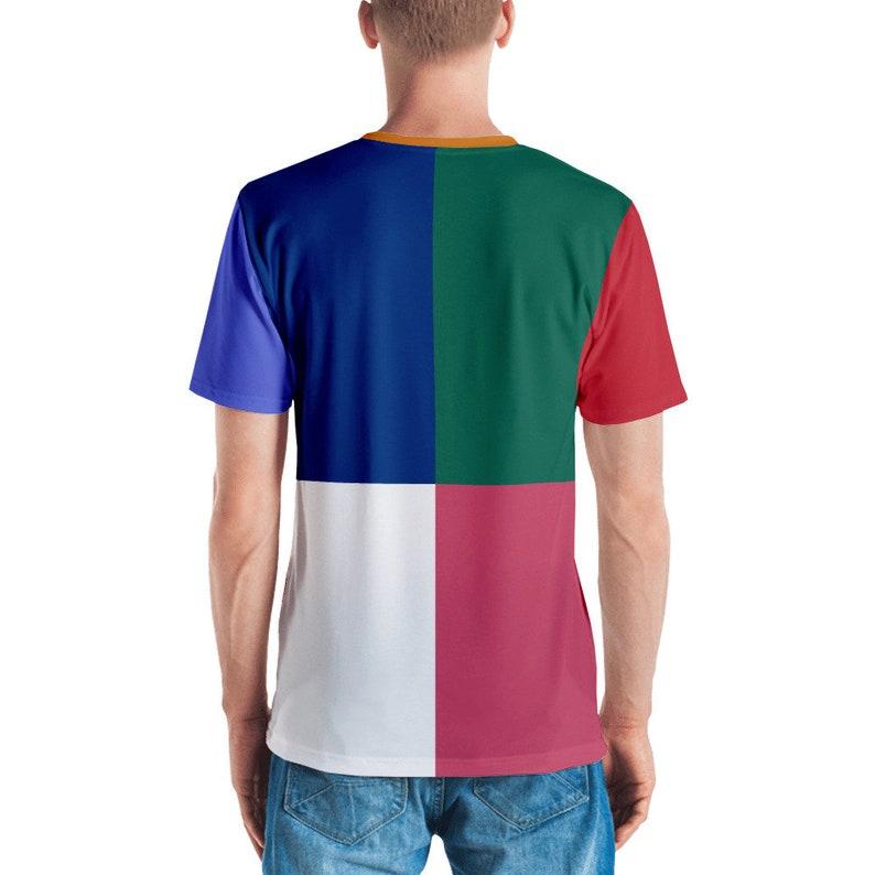 Estetica camicia camicia di Tumblr colore blocco t-shirt  4514fd470a8