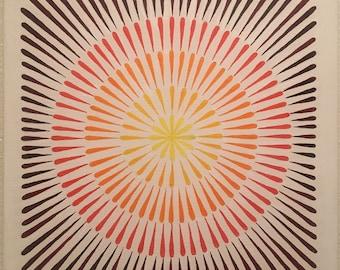 Concentric Mandala Painting