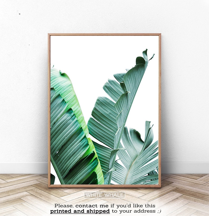 image regarding Etsy Printable Wall Art named Banana Leaves, Wall Decor, Tropical Artwork, Printable Wall Artwork, Palm Leaf Print, Minimalist Leaf Artwork, Greenery Print, Banana Leaf Poster