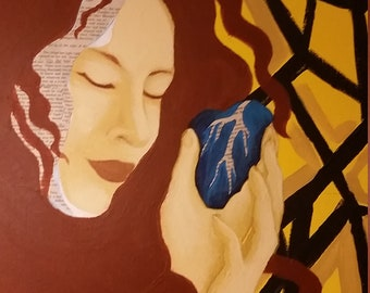 Customized Portrait Incorporating Book Pages