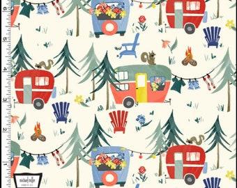Camping Life Fabric - Campgrounds - Michael Miller Fabrics
