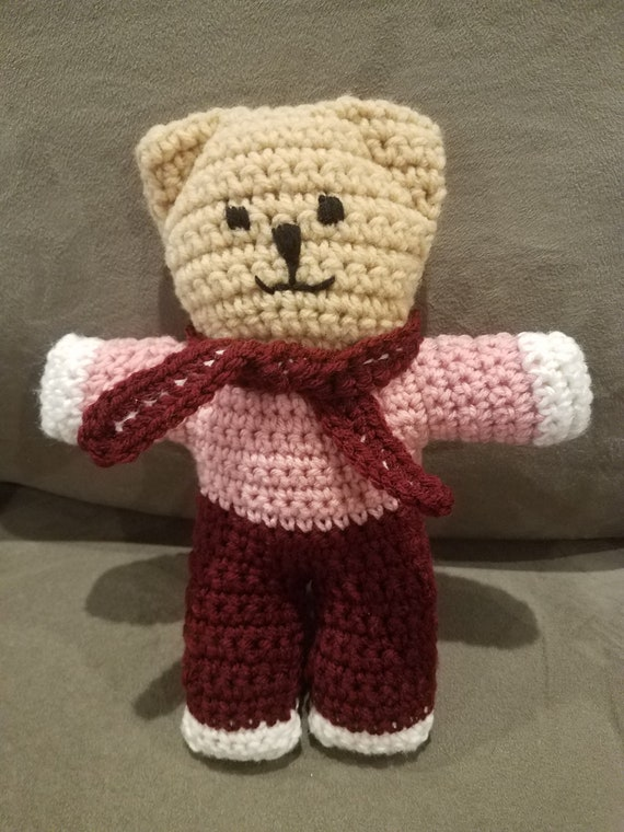 Free Crochet Teddy Bear Pattern | Crochet teddy bear, Teddy bear ... | 760x570