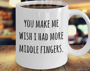 You Make Me Wish I Had More Middle Fingers Cap Hat Funny Joke Mens Gift Present