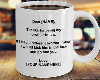 Gift For Brother In Law Personalized Mug MugFunny BIL Present Birthday