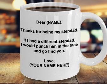 Stepdad Mug Personalized Stepfather Gift Custom Fathers Day Birthday Bonus Dad