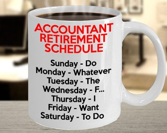 Accountant Retirement Gifts For Women And Men, Retired Accountant Mug, Funny Gift Idea For Retiring Accountant, Accounting Gag Gift, Joke