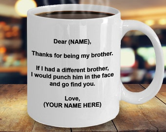 Gift for Brother Brother Mug Brother Coffee Mug Brother Gifts Brother Birthday Gift Personalized Brother Gift Custom Made To Brother & Birthday gift for brother | Etsy