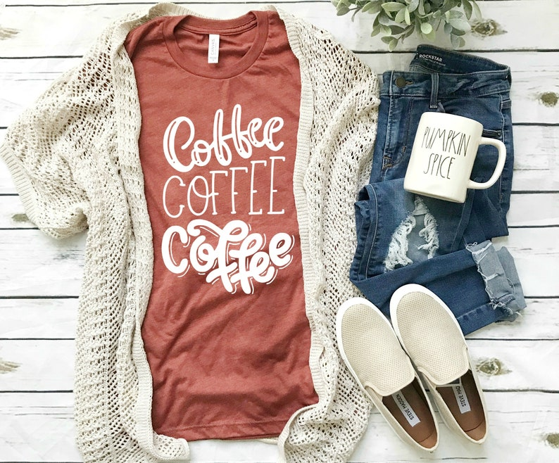 Coffee Shirt women's clothing clothing gift pumpkin image 0