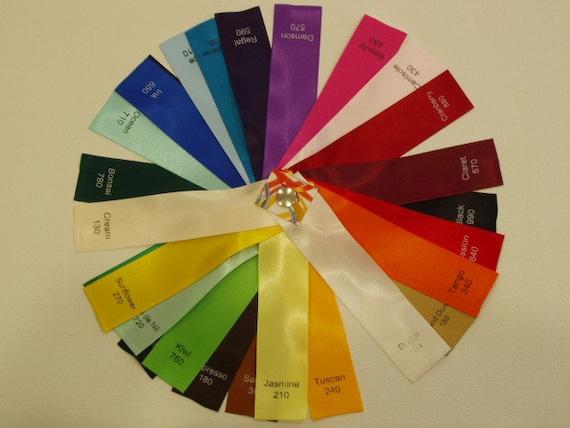 Double Face tissé Satin 1 pouce tissé Face bord ruban fabriqué en rouleau 50 yd en Angleterre pour nourriture cadeau wrap party favorise l'artisanat floral album cartes barrette 1afc1e