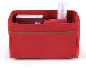 b4d9ca945cc9 Front bag real leather bag side Purse Organizer with Removable Middle  Compartments for Her Bags