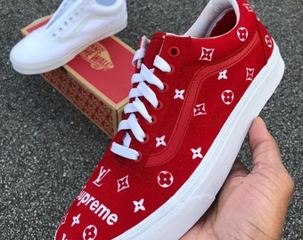 1f978d70076f Supreme x LV Vans Customs All Size