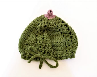 Boobie beanie baby hat crochet hand knitted hat breastfeeding baby gift