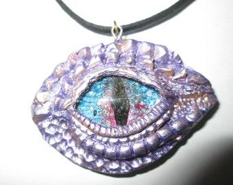 "Dragon Eye Pendant on 18"" Leather Necklace"