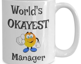 Worlds Okayest Coach Mug Okayest Employee Gift Ideas for | Etsy