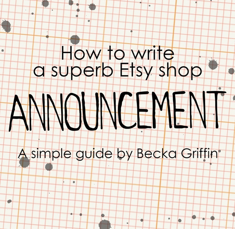 A Guide to Etsy Announcements Instant Download image 0
