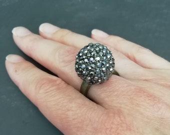 Ring schwarz glitzernd | Etsy