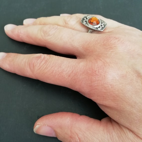 O In Gift  Box Beautiful 925 Silver Ring With Marcasite Size  L1//2