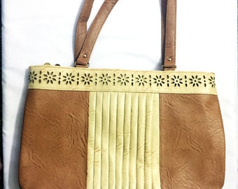 Best quality Artificial Leather Purse, Tan Distressed Leather Tote ,shoulder bag