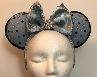 Blue and Silver Mouse Ears