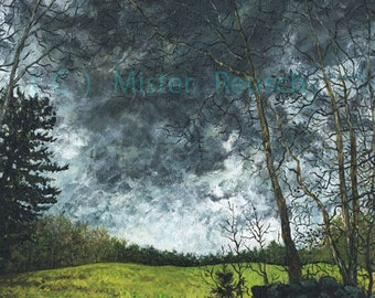 Early Spring Storm over Whittier's Birthplace New Signed Print by Mister Reusch