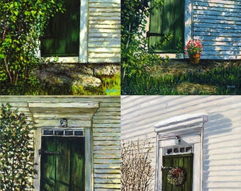 John Greenleaf Whittier Birthplace Four Signed Print Set by Mark Reusch