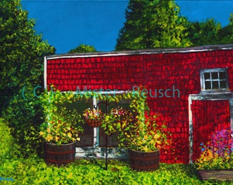 Early Summer Light on John Greenleaf Whittier Birthplace Signed Print by Mark Reusch