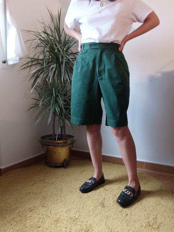 Vintage high waist green shorts/ Burberrys vintage