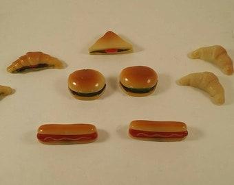 Set of 9 Vintage Refrigerator Food Magnets