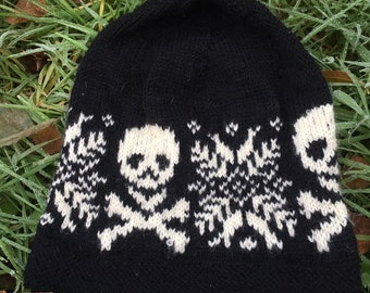 Pattern for  BAD ASS SNOWFLAKE Hat. Downloadable.