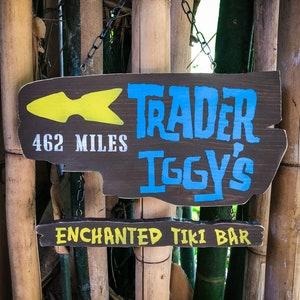 Rustic Wood Tiki Coaster Art Tiles Trader Sam/'s Cocktail Bar Drinks