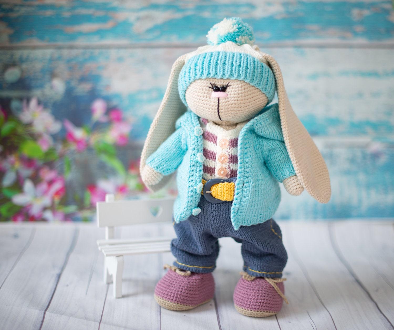 Dress me bunny boy and girl - Free amigurumi pattern | 1255x1500
