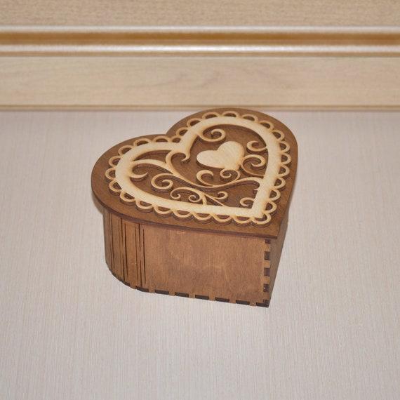 TRINKET BOX WOODEN KEEPSAKE JEWELLERY HEART PHOTOGRAPH WEDDING MOTHERS DAY GIFTS