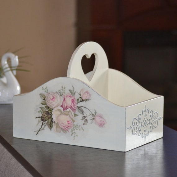 Shabby Chic Wood Desk Organizer For Woman Wooden Rose Decor Etsy,Where To Find Houses For Rent