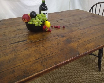 farmhouse antique pine table 1007