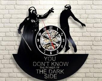 Wall Clock Vintage Darth Vader Vinyl Record Wall Clock Birthday Gift For Men Room Decor Star Wars Wall Clock Modern Yoda Gift For Kids
