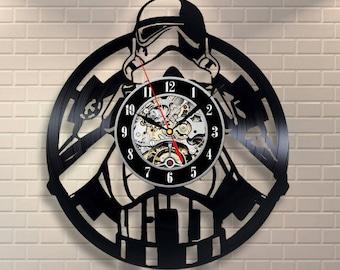 Star Wars Room Decor Darth Vader Vinyl Record Wall Clock Wall Clock Modern Wall Clock Vintage Birthday Gift For Men Luke Skywalker