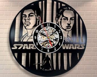Room Decor Gift For Fan Star Wars Art Wall Clock Modern Wall  Clock Vintage Darth Vader Vinyl Record Wall Clock Luke Skywalker