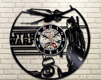 Star Wars Art Darth Vader Vinyl Record Wall Clock Wall Clock Modern Wall Clock Vintage Birthday Gift For Men Luke Skywalker Room Decor