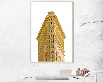 New York City Print, New York Photo, New York Photography, New York Gift, Wall Art, Manhattan, Flatiron Building, Flatiron, Office Decor
