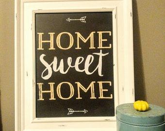 Home Sweet Home Handmade Chalk Sign