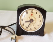 Vintage General Electric Art Deco Bakelite Alarm Clock 7H154 Bakelite 1940 39 s