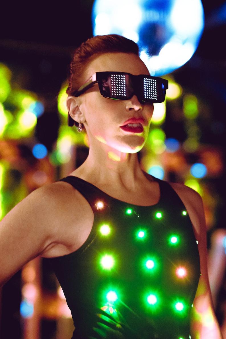 Illuminated FashionTech Programmed Bodysuit image 0