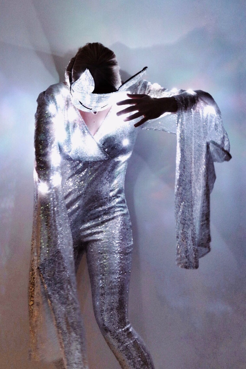 Stardust Light Up Jumpsuit: Sequin Remote-Controlled Cape image 0
