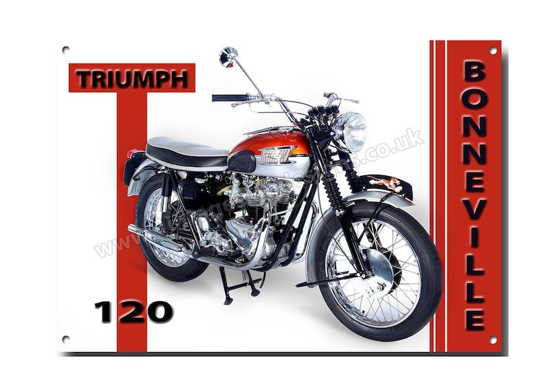 Triumph Bonneville T120 Metal Sign 16x12 Etsy