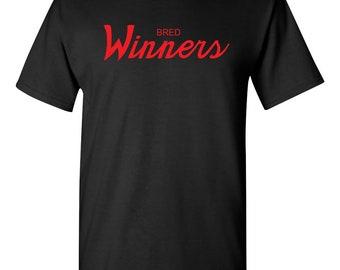a8e75f4231d118 ... Air Jordan 13 Bred Sneakers)  Bred Winners Script Men s T-Shirt Sneaker  Tees To Match Jordan 9 IX Retro ...