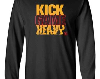 be94322b6d38b0 Kick Game Heavy Melo of 2002 Carmelo Anthony Men s Long Sleeve T-Shirt Shirt  Sneaker Tees To Match Jordan 13 XIII-Black