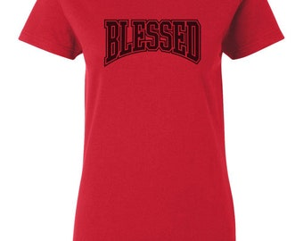new product 95af5 c672b ... Blessed Women s T-Shirt Sneaker Tees To Match Jordan 9 IX Retro Bred  Breds ...