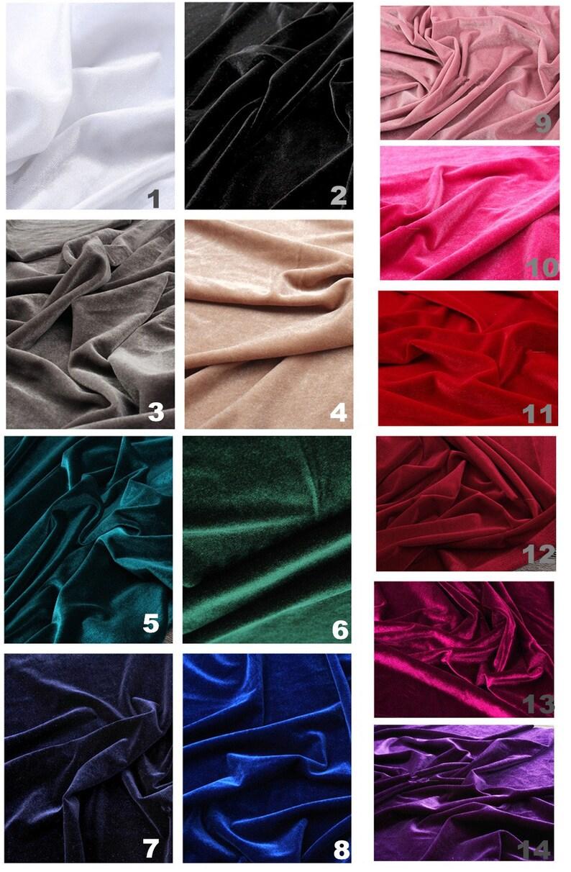 1 Meter Top Quality Solid-Color Heavy Velvet Fabric Korean Velvet 14 Colors available Luxury peluche Velvet Clothes Shining Velvet