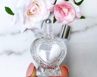 15 ml EMPTY Premium Heart Roller Bottle | 15 ml Essential Oil Heart Roll-On Bottle | Essential Oil Roller Bottle | Essential Oil Roll-On